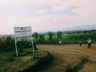 The village of Mwangaza, in the Masai Mara, Kenya.